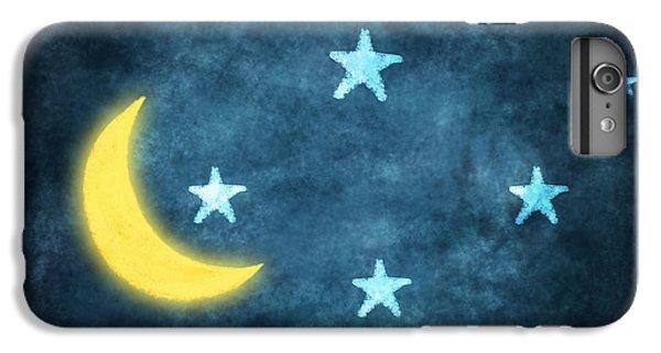 Moon iPhone 7 Plus Case - Stars And Moon Drawing With Chalk by Setsiri Silapasuwanchai