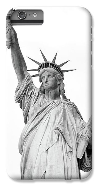 Statue Of Liberty, Black And White IPhone 7 Plus Case by Sandy Taylor