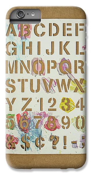 Craft iPhone 7 Plus Case - Stencil Alphabet Fun by Scott Norris