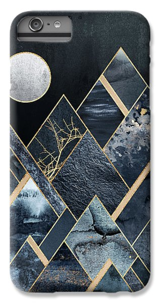 Moon iPhone 7 Plus Case - Stormy Mountains by Elisabeth Fredriksson