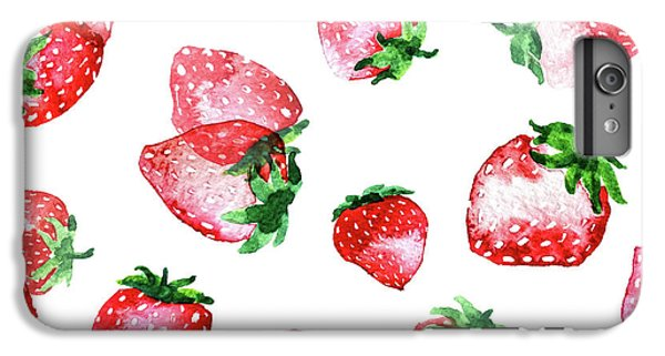Strawberries IPhone 7 Plus Case by Varpu Kronholm
