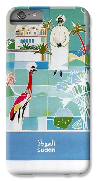 Emu iPhone 7 Plus Case - Sudan - Kuwait Airways Corporation - Kuwait - Retro Travel Poster - Vintage Poster by Studio Grafiikka