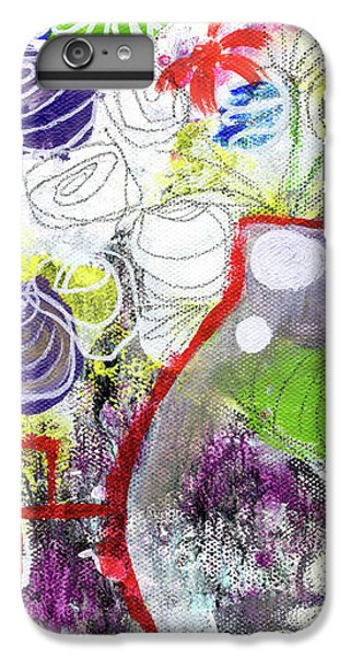 Sunday Market Flowers 3- Art By Linda Woods IPhone 7 Plus Case by Linda Woods