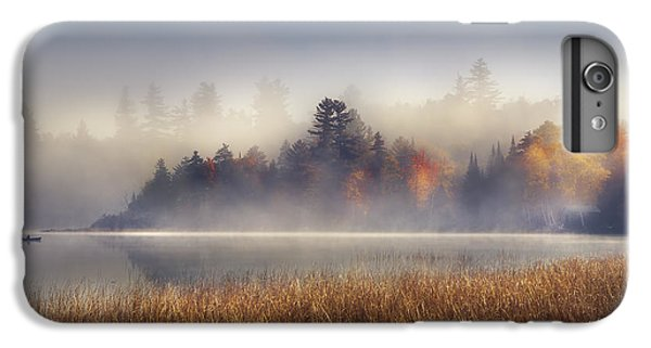 Boat iPhone 7 Plus Case - Sunrise In Lake Placid  by Magda  Bognar