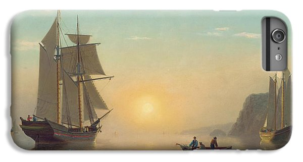 Boat iPhone 7 Plus Case - Sunset Calm In The Bay Of Fundy by William Bradford