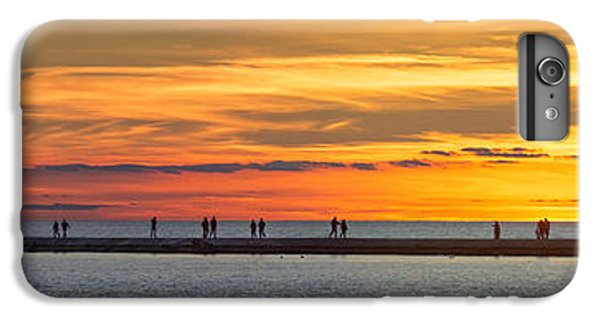 IPhone 7 Plus Case featuring the photograph Sunset Over Ludington Panoramic by Adam Romanowicz
