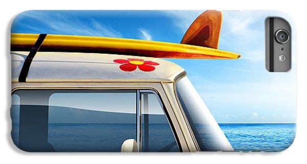 Red iPhone 7 Plus Case - Surf Van by Carlos Caetano