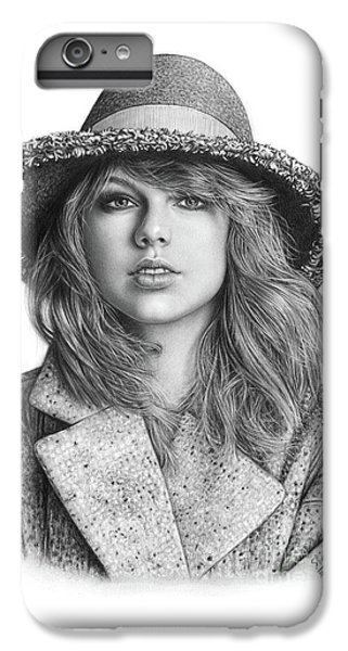 Taylor Swift Portrait Drawing IPhone 7 Plus Case by Shierly Lin