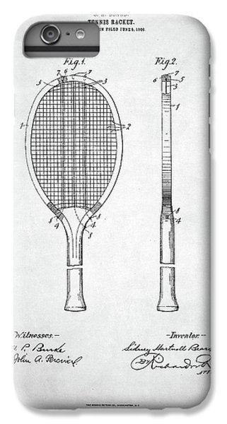 Tennis Racket Patent 1907 IPhone 7 Plus Case by Taylan Apukovska