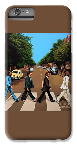 Rock And Roll iPhone 7 Plus Case - The Beatles Abbey Road by Paul Meijering