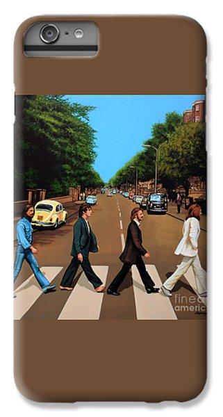 Musicians iPhone 7 Plus Case - The Beatles Abbey Road by Paul Meijering
