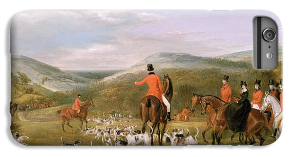 Rural Scenes iPhone 7 Plus Case - The Berkeley Hunt by Francis Calcraft Turner