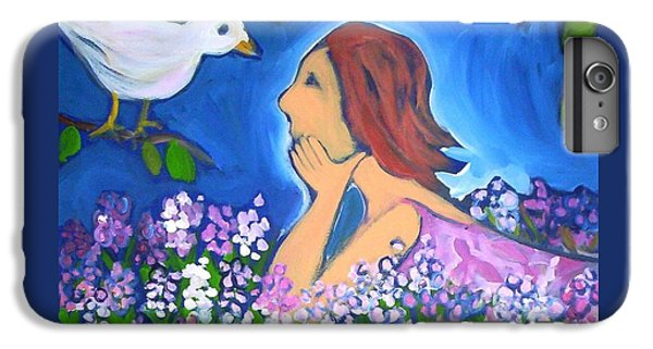 IPhone 7 Plus Case featuring the painting The Bird by Winsome Gunning