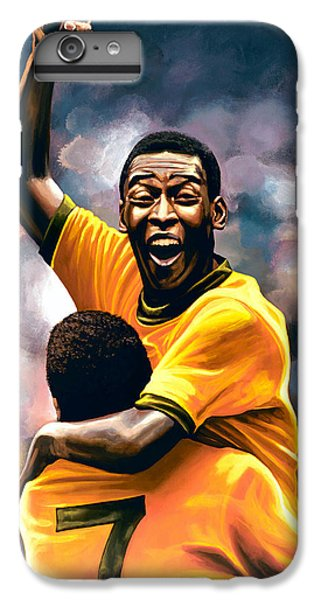 Athletes iPhone 7 Plus Case - The Black Pearl Pele  by Paul Meijering