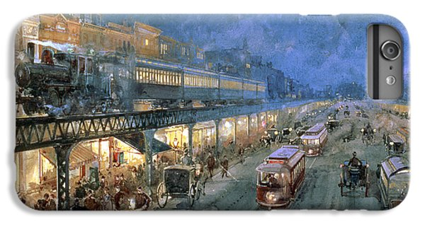 Train iPhone 7 Plus Case - The Bowery At Night by William Sonntag