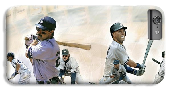 Derek Jeter iPhone 7 Plus Case - The Captains II Don Mattingly And Derek Jeter by Iconic Images Art Gallery David Pucciarelli
