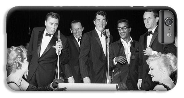 The Cast Of Ocean's 11 And Members Of The Rat Pack. IPhone 7 Plus Case by The Titanic Project