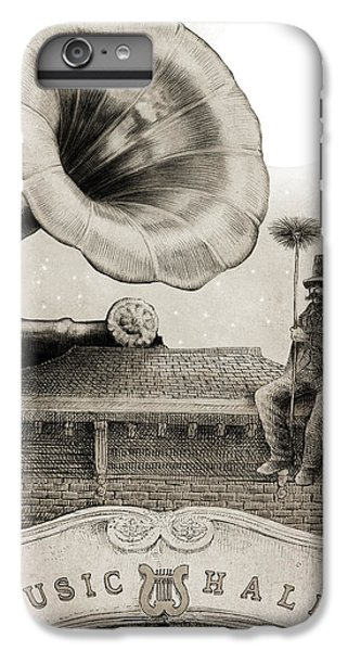 Moon iPhone 7 Plus Case - The Chimney Sweep Monochrome by Eric Fan