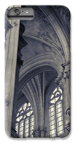 The Columns Of Saint-eustache, Paris, France. IPhone 7 Plus Case by Richard Goodrich