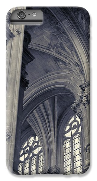 IPhone 7 Plus Case featuring the photograph The Columns Of Saint-eustache, Paris, France. by Richard Goodrich