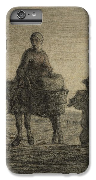 The Departure For Work IPhone 7 Plus Case by Jean-Francois Millet