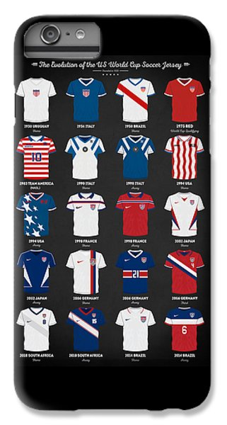 The Evolution Of The Us World Cup Soccer Jersey IPhone 7 Plus Case by Taylan Apukovska