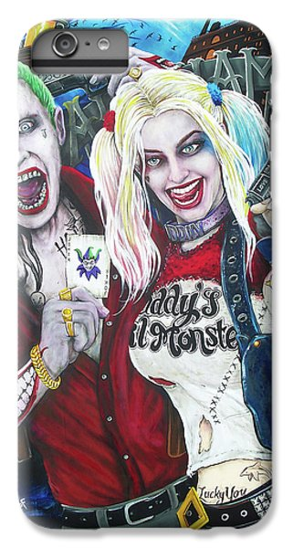 Ben Affleck iPhone 7 Plus Case - The Joker And Harley Quinn by Michael Vanderhoof