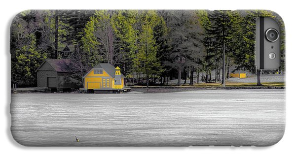 IPhone 7 Plus Case featuring the photograph The Lighthouse On Frozen Pond by David Patterson