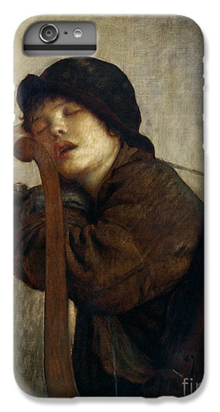 Violin iPhone 7 Plus Case - The Little Violinist Sleeping by Antoine Auguste Ernest Hebert