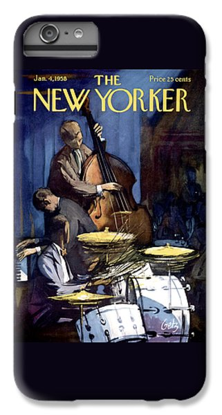 Drum iPhone 7 Plus Case - The New Yorker Cover - January 4th, 1958 by Arthur Getz