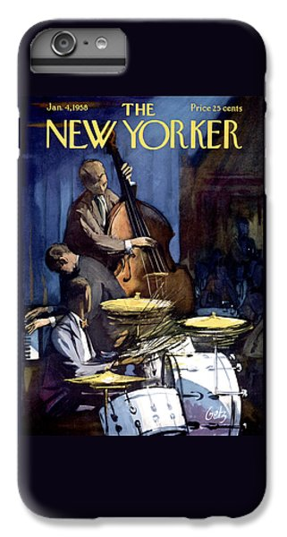 Bass iPhone 7 Plus Case - The New Yorker Cover - January 4th, 1958 by Arthur Getz