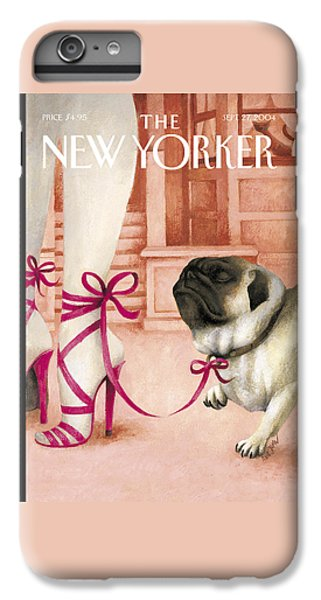 Pug iPhone 7 Plus Case - The New Yorker Cover - September 27th, 2004 by Ana Juan