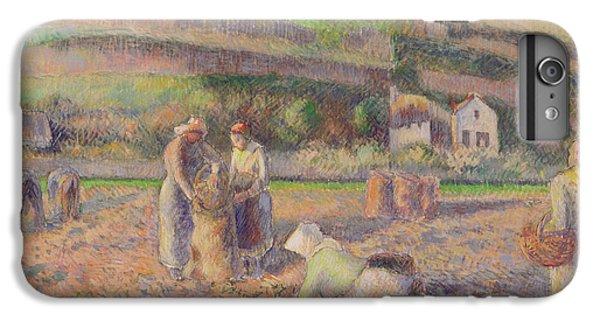The Potato Harvest IPhone 7 Plus Case by Camille Pissarro