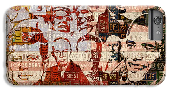 The Presidents Past Recycled Vintage License Plate Art Collage IPhone 7 Plus Case