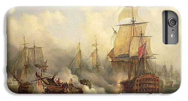 Boat iPhone 7 Plus Case - The Redoutable At Trafalgar by Auguste Etienne Francois Mayer