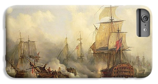 Boat iPhone 7 Plus Case - Unknown Title Sea Battle by Auguste Etienne Francois Mayer
