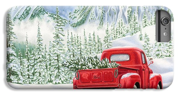 Red iPhone 7 Plus Case - The Road Home by Sarah Batalka