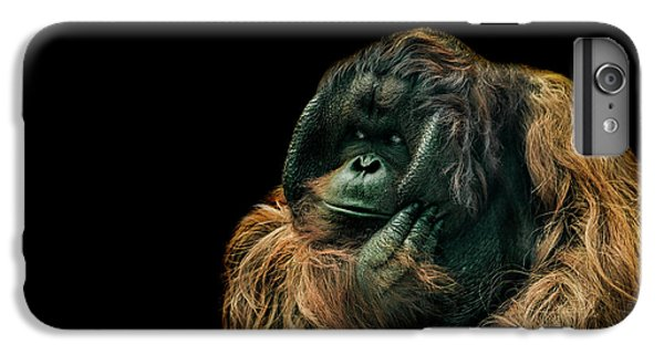 Orangutan iPhone 7 Plus Case - The Sceptic by Paul Neville