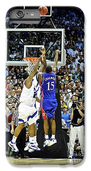 Larry Bird iPhone 7 Plus Case - The Shot, 3.1 Seconds, Mario Chalmers Magic, Kansas Basketball 2008 Ncaa Championship by Thomas Pollart