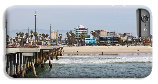 The South View Venice Beach Pier IPhone 7 Plus Case by Ana V Ramirez
