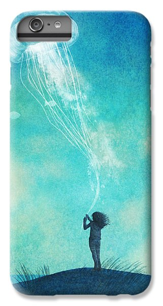 Blue iPhone 7 Plus Case - The Thing About Jellyfish by Eric Fan