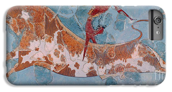 Minotaur iPhone 7 Plus Case - The Toreador Fresco, Knossos Palace, Crete by Greek School