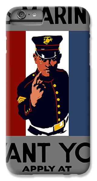 Marine iPhone 7 Plus Case - The U.s. Marines Want You  by War Is Hell Store