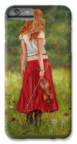 Violin iPhone 7 Plus Case - The Violinist by David Stribbling