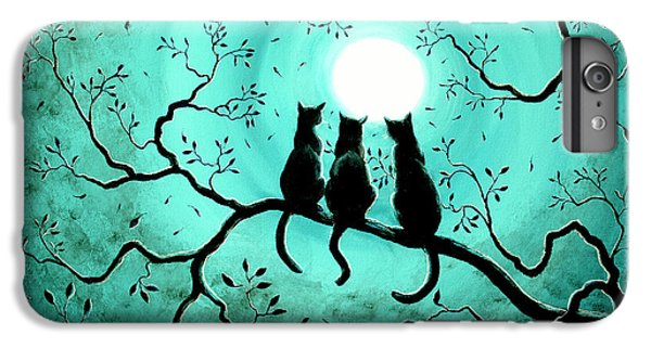 Three Black Cats Under A Full Moon IPhone 7 Plus Case