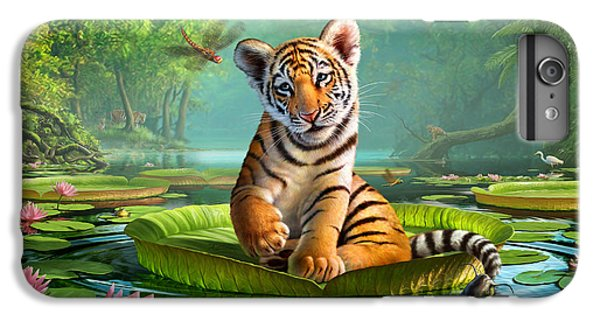 Python iPhone 7 Plus Case - Tiger Lily by Jerry LoFaro