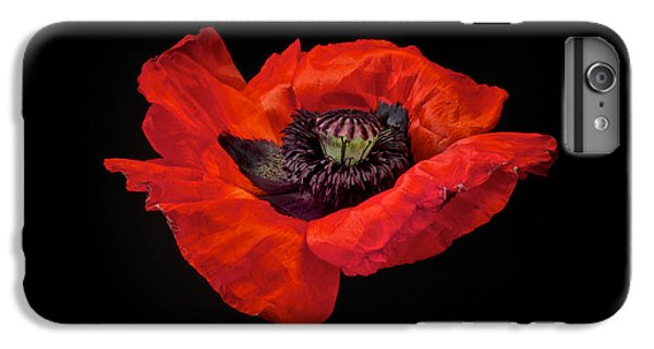 Red iPhone 7 Plus Case - Tiny Dancer Poppy by Toni Chanelle Paisley