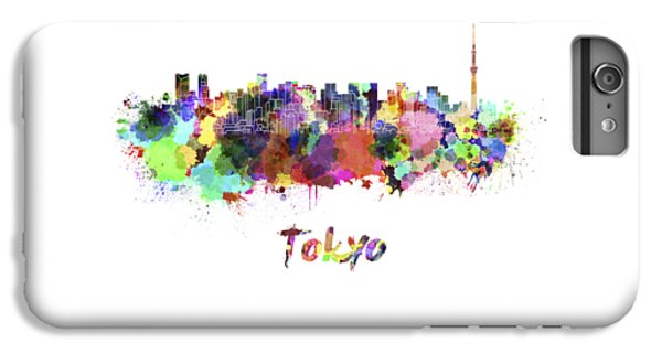 Tokyo V2 Skyline In Watercolor IPhone 7 Plus Case by Pablo Romero