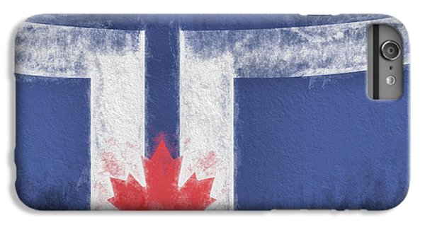 IPhone 7 Plus Case featuring the digital art Toronto Canada City Flag by JC Findley
