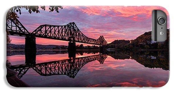Beaver iPhone 7 Plus Case - Train Bridge At Sunrise  by Emmanuel Panagiotakis